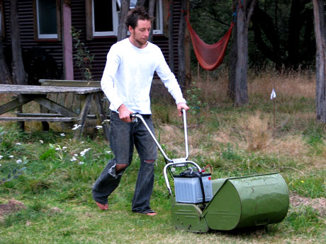 Cutting the grass with electrons