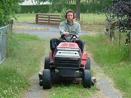 Ride on mower - fossil fuel extravagance