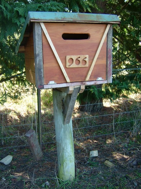 A stylish mail receptacle