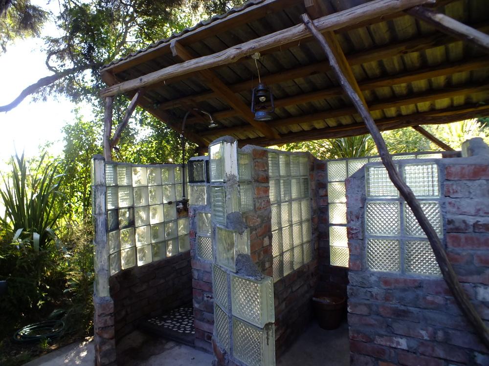 Funky outdoor bathroom