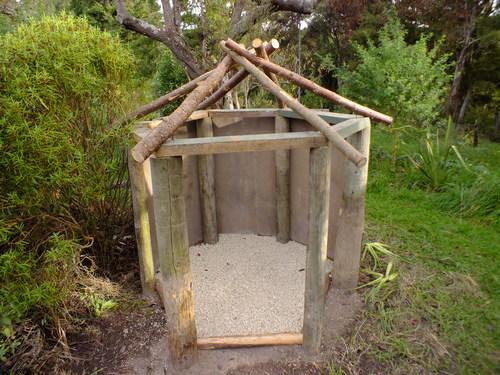 A small firewood hut