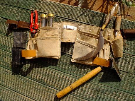 The forest garden tool belt
